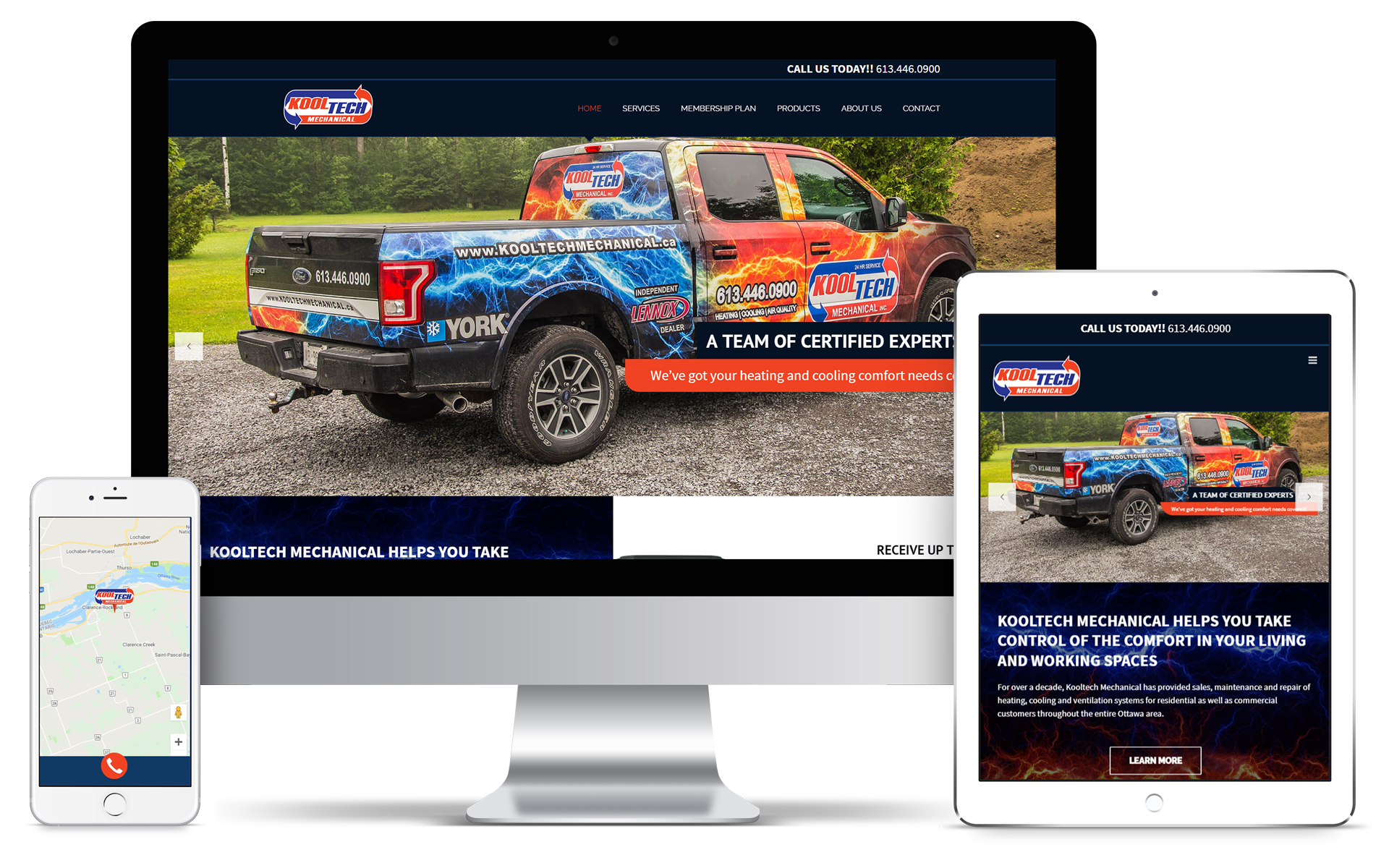 Website Redesign for Kooltech Mechanical Heating and Cooling