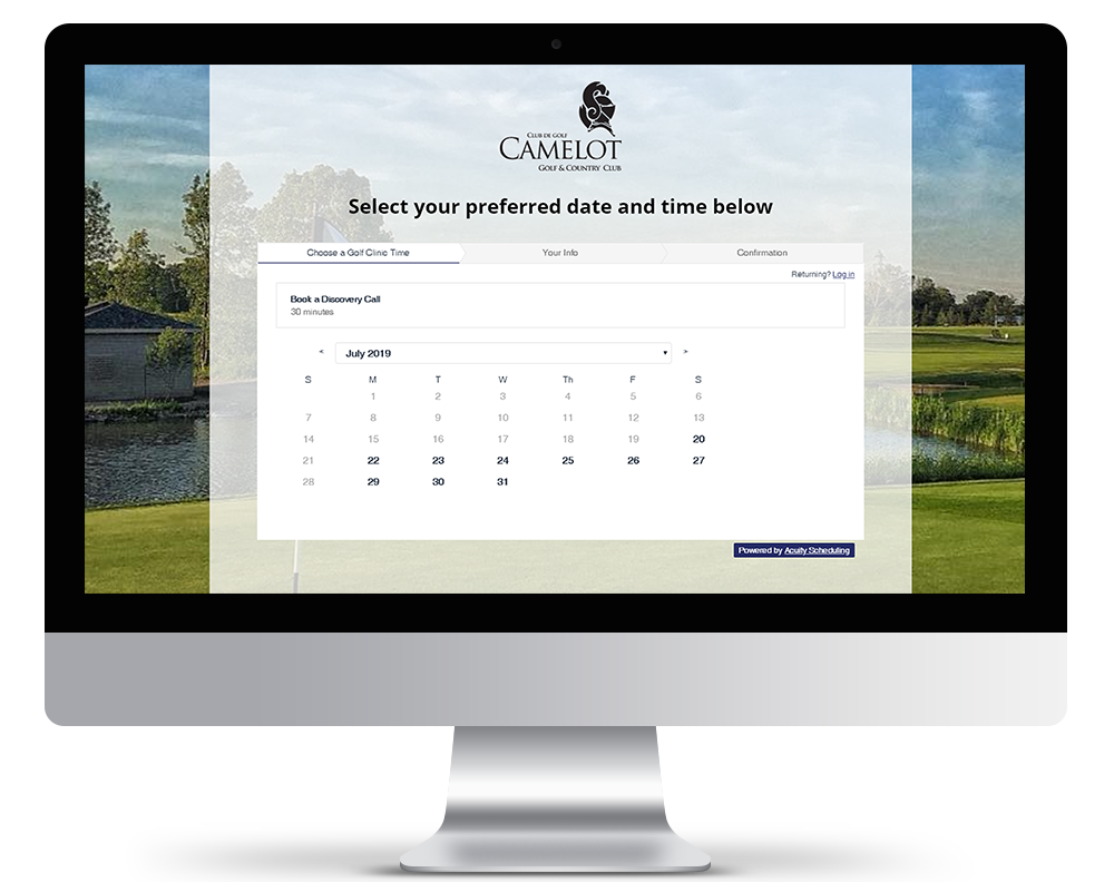 Golf Clinic Scheduling Automation and Acuity Scheduling for Camelot Golf and Country Club