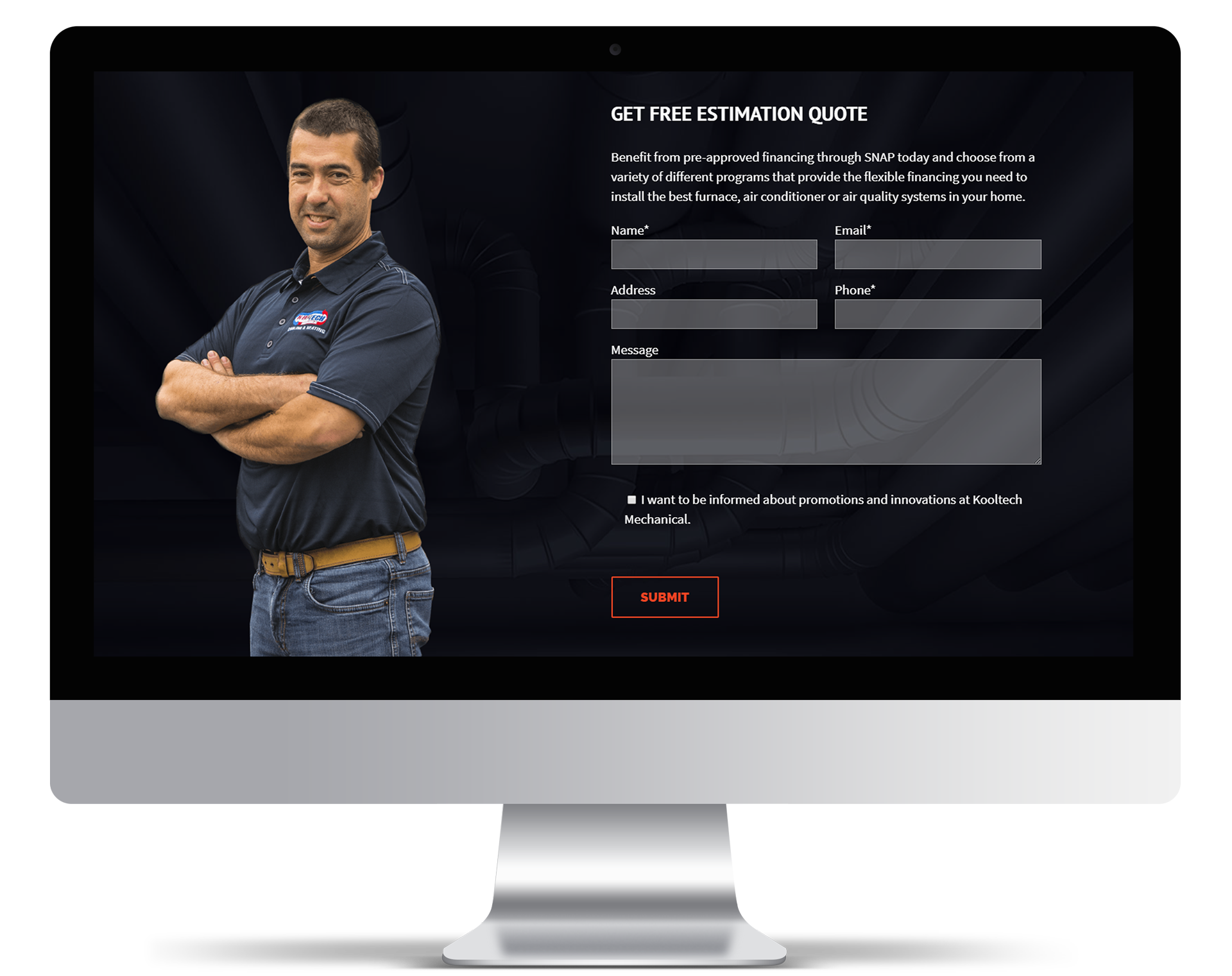 Lead Generation and Website Conversion Tools for Kooltech Mechanical Heating and Cooling